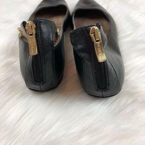 BCBGeneration Shoes - BCBG Black Flats Zayden Gold Chain Ankle Size 8.5